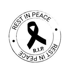 Black awareness ribbon on white background vector