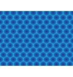 Blue circular hypnotic pattern vector image