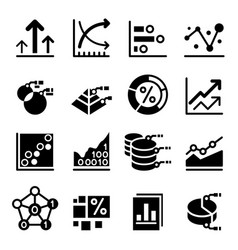 Business data icon vector