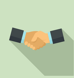 business handshake icon flat style vector image