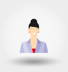 business lady in business suit icon vector image