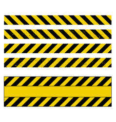 Caution tape grunge set design isolated on white vector