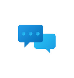 chat icon color gradient new style vector image