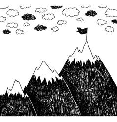 Climbing the mountains achieve goal vector