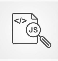 coding file icon sign symbol vector image