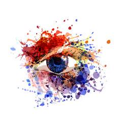 Color eye vector