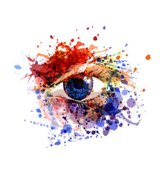 Color of eye vector