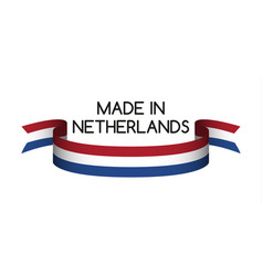 Colored ribbon with the dutch tricolor vector