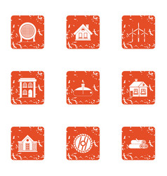 Compensate the natural resource icons set grunge vector