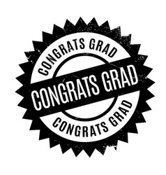 Congrats grad rubber stamp vector