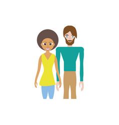 Couple romantic relation image vector