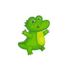 Cute alligator or crocodile cartoon character vector