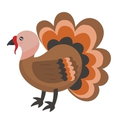Cute cartoon turkey vector