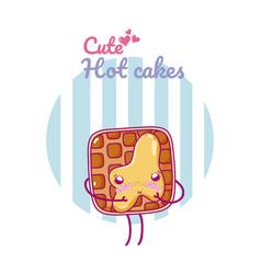 cute toast kawaii cartoon vector image