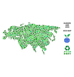 Ecology green composition europe and asia vector