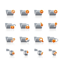 Folders Icons 1 Graphite Series vector