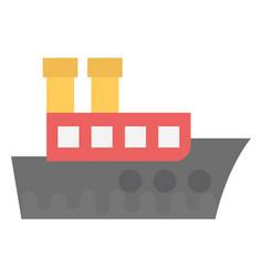 Freight ship vector