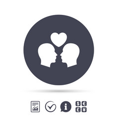 Gay couple sign icon male love male vector