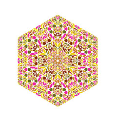 Geometrical ornate abstract floral mosaic vector