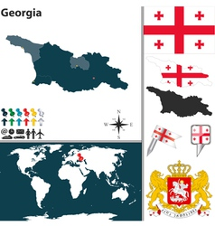 Georgia map world vector