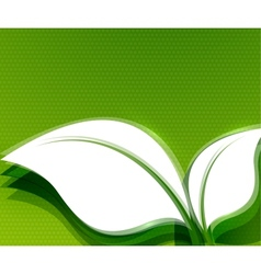 Green leaves abstract wave eco design vector image