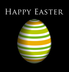 Greeting card colored easter egg and text vector