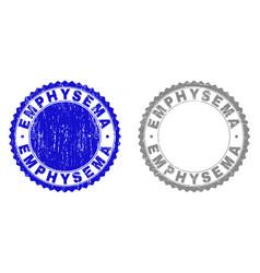 grunge emphysema textured stamps vector image