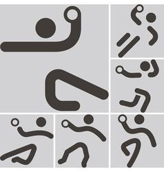 Handball icons vector