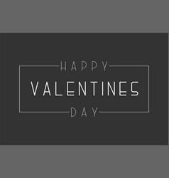 happy valentines day background - vector image
