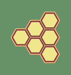 honeycomb sign cordovan icon and mellow vector image