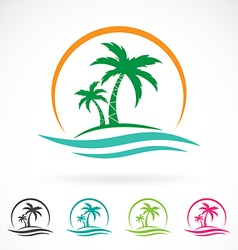 Image an palm tropical tree icon vector