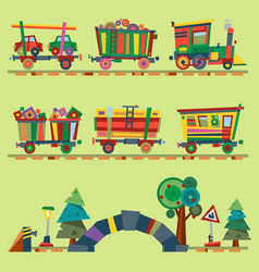 kid train railroad baby cartoon toy or vector image