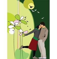 kiss card vector image