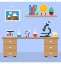 Laboratory workspace and workplace concept vector image