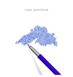 Lake superior one great lakes sketch vector