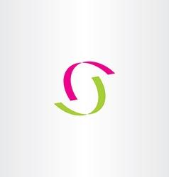 letter s green magenta logotype logo vector image