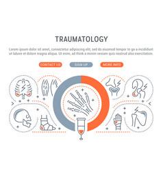 linear banner traumatology vector image