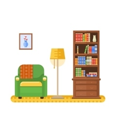 Living room or cabinet vector image