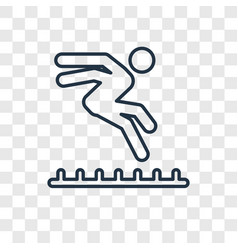 long jump concept linear icon isolated on vector image