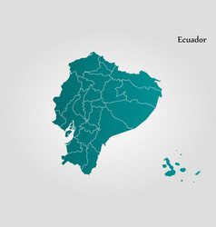 map of ecuador vector image