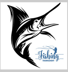Marlin fish - stock isolated vector