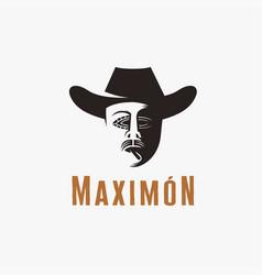 maximon san simon god logo icon template vector image