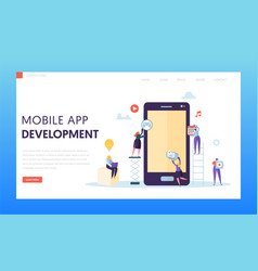 mobile app development ab test landing page vector image