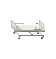 Mobile medical bed icon cartoon style vector