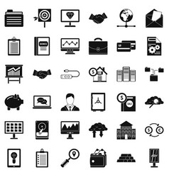 Money business icons set simple style vector