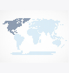 north america continent on the world map vector image
