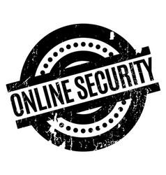 Online security rubber stamp vector