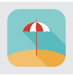 Parasol icon vector