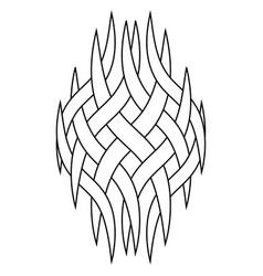 Pattern tattoo logo intertwining smoke vapors vector