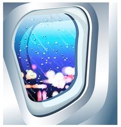 Plane window vector